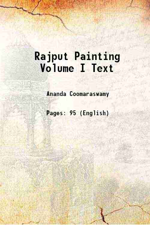 Rajput Painting Volume I Text