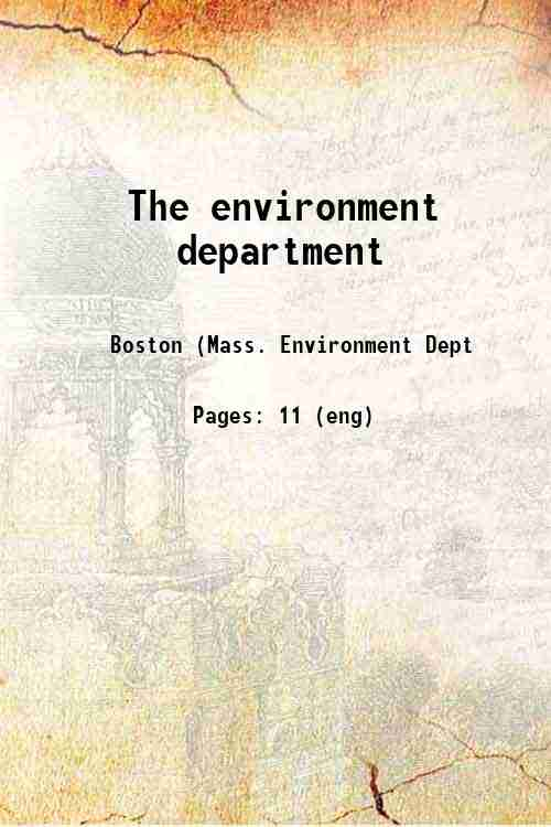 The environment department
