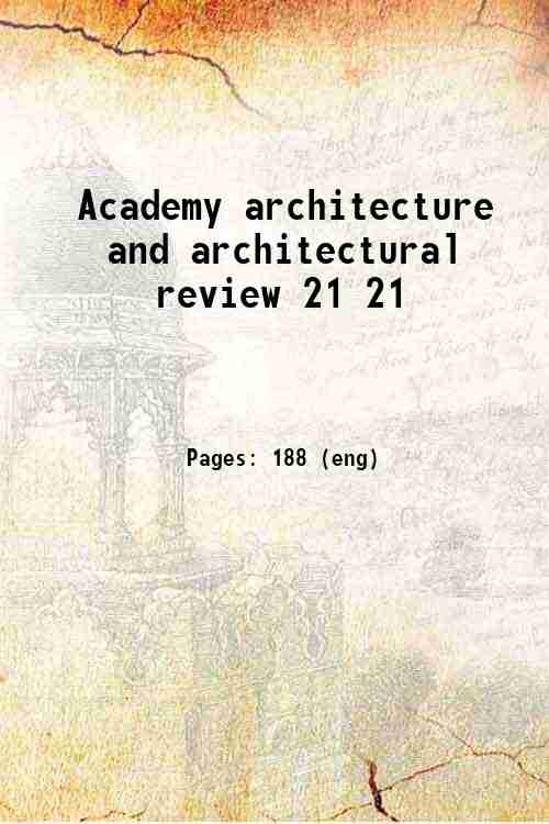 Academy architecture and architectural review 21 21