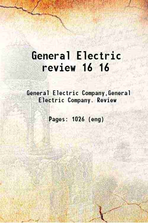 General Electric review 16 16