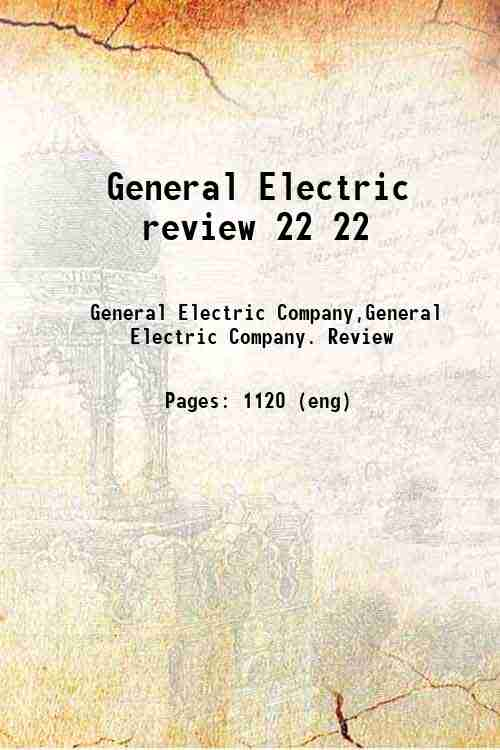 General Electric review 22 22