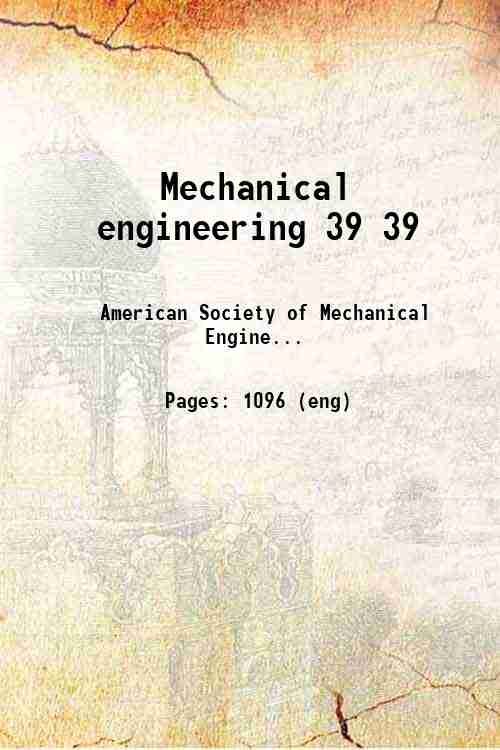 Mechanical engineering 39 39