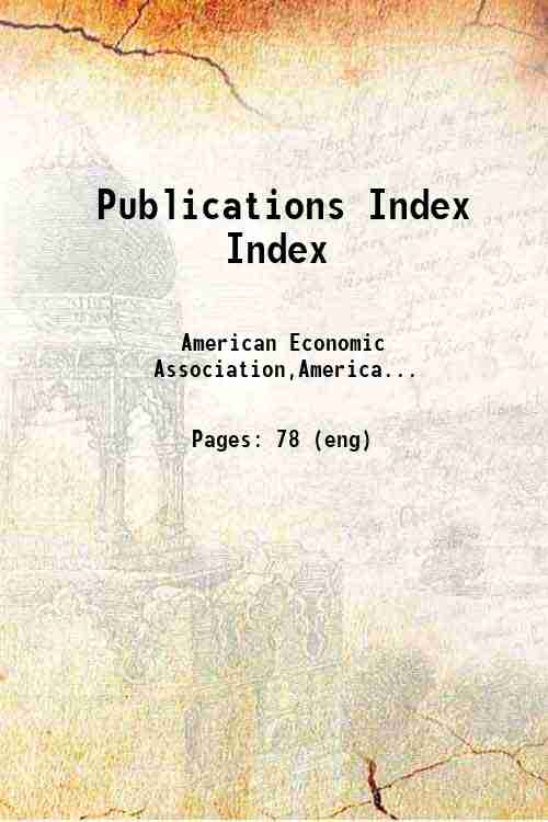 Publications Index Index