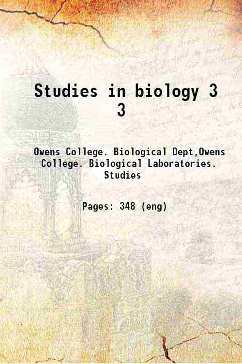 Studies in biology 3 3