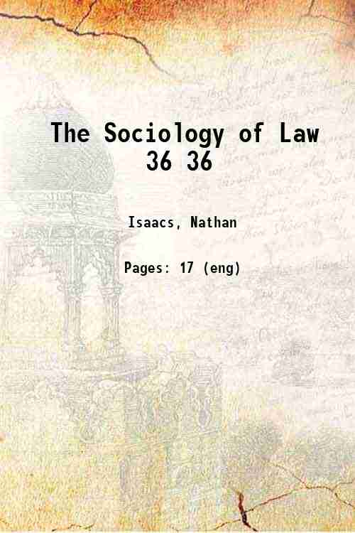 The Sociology of Law 36 36