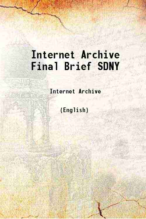 Internet Archive Final Brief SDNY