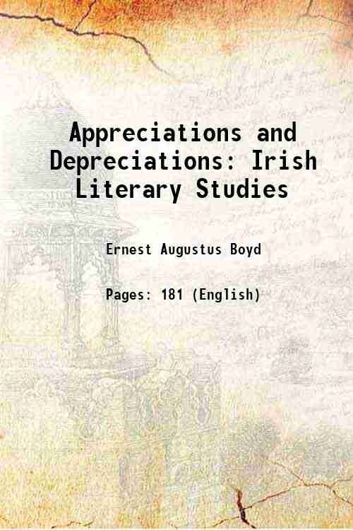 Appreciations and Depreciations: Irish Literary Studies