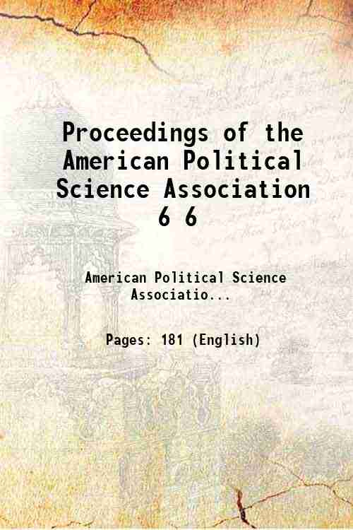 Proceedings of the American Political Science Association 6 6