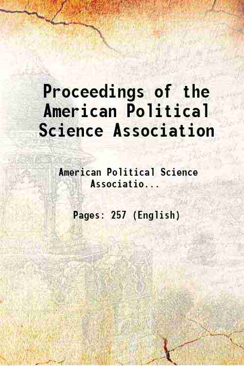 Proceedings of the American Political Science Association