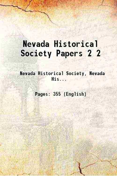 Nevada Historical Society Papers 2 2