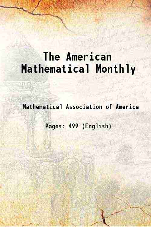 The American Mathematical Monthly