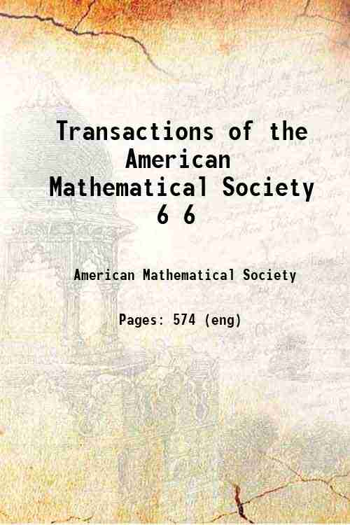 Transactions of the American Mathematical Society 6 6