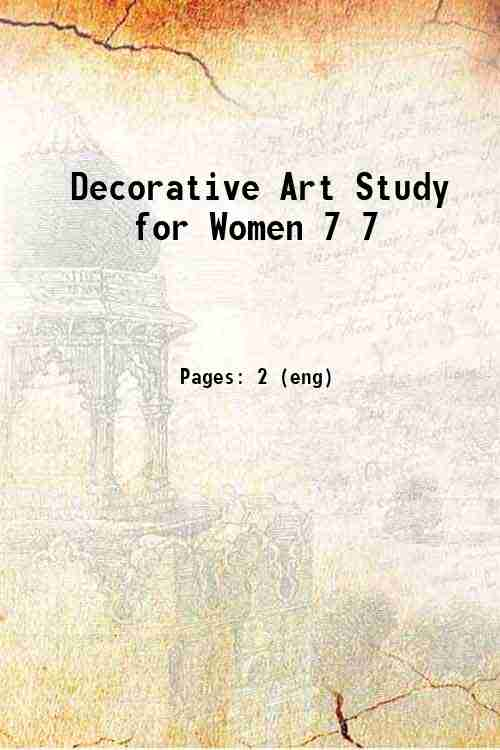 Decorative Art Study for Women 7 7