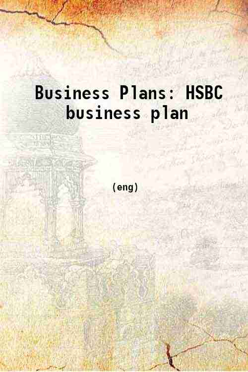 Business Plans: HSBC business plan