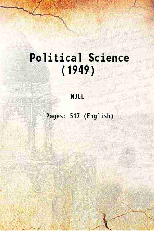 Political Science (1949)
