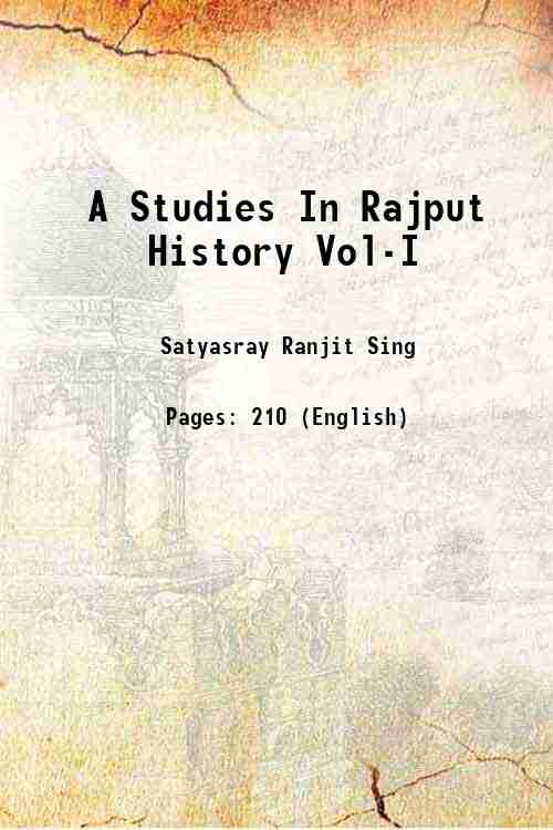 A Studies In Rajput History Vol-I