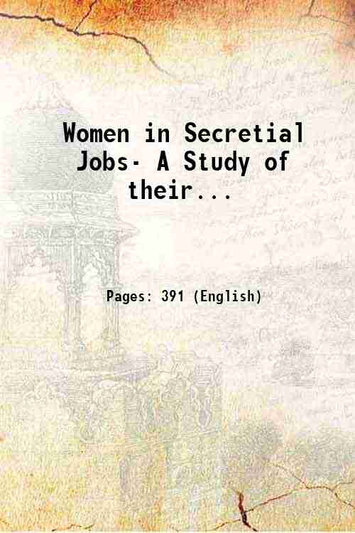 Women in Secretial Jobs- A Study of their...