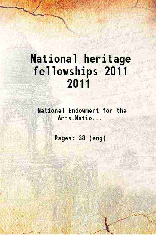 National heritage fellowships 2011 2011