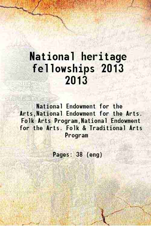 National heritage fellowships 2013 2013