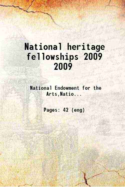 National heritage fellowships 2009 2009