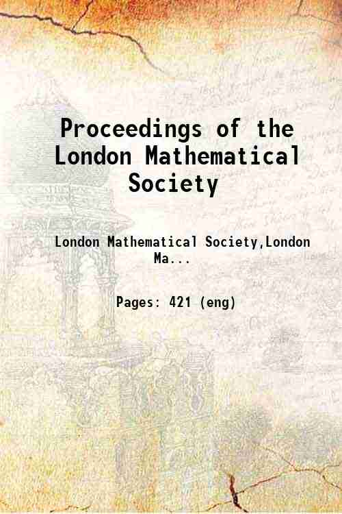 Proceedings of the London Mathematical Society