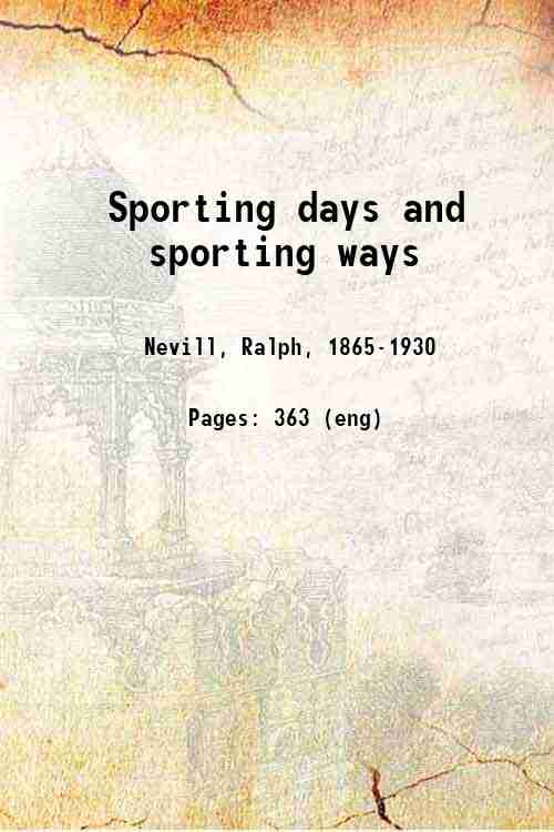Sporting days and sporting ways