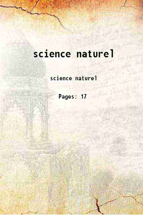 science naturel