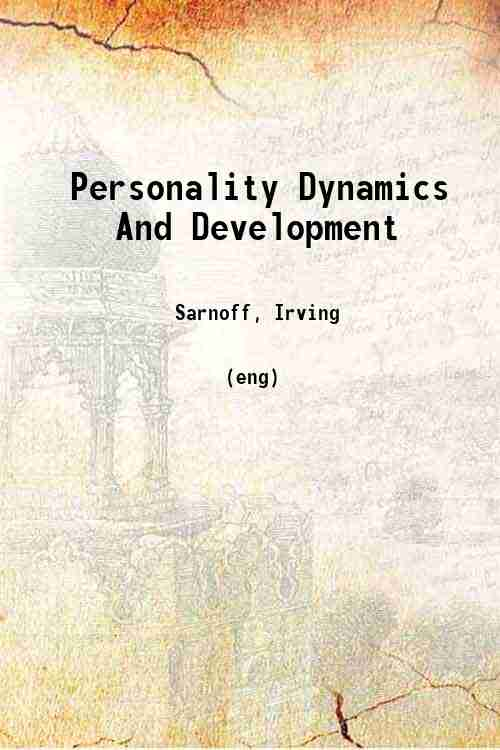 Personality Dynamics And Development