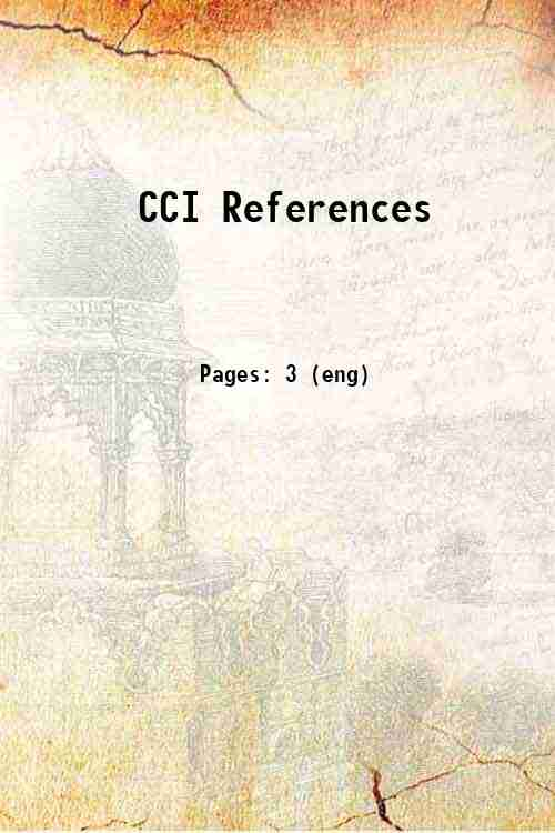CCI References