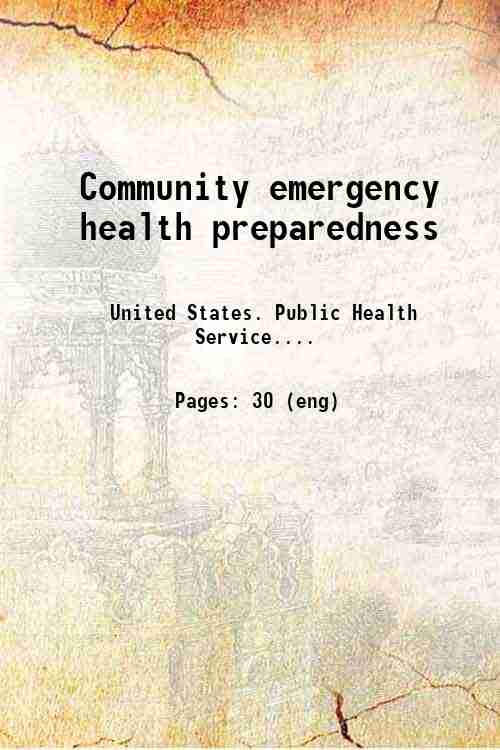 Community emergency health preparedness
