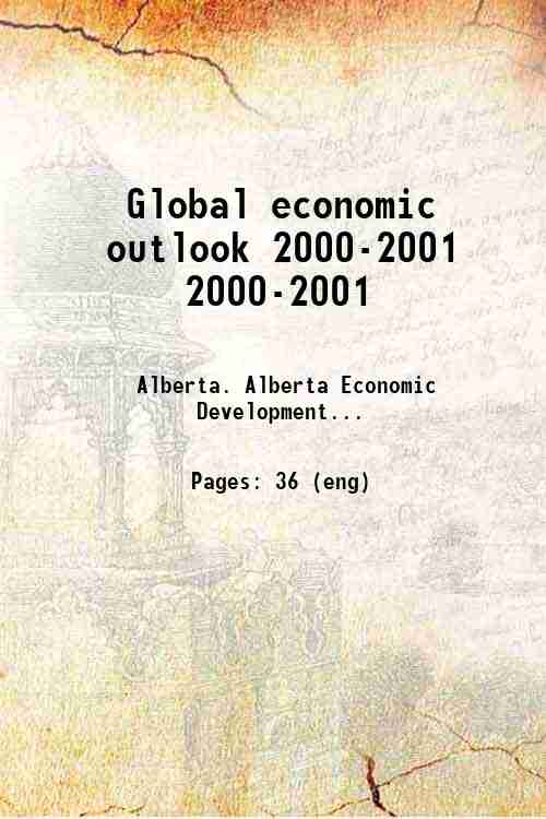 Global economic outlook 2000-2001 2000-2001