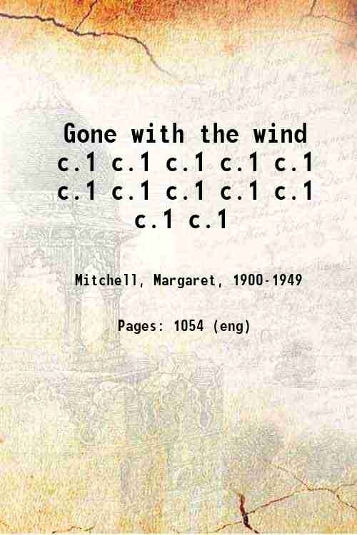 Gone with the wind c.1 c.1 c.1