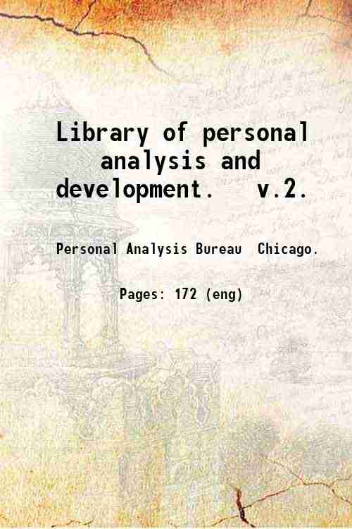 Library of personal analysis and development.   v.2.
