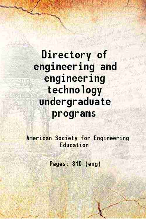 Directory of engineering and engineering technology undergraduate programs