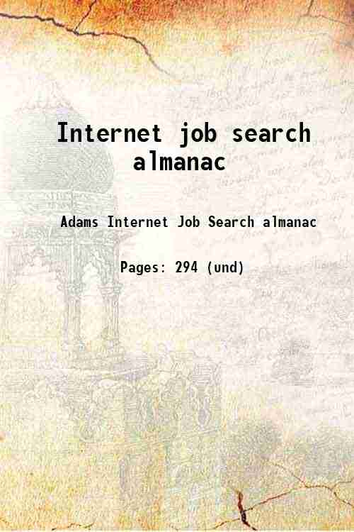 Internet job search almanac