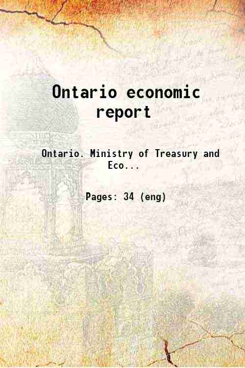 Ontario economic report