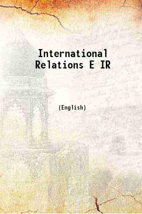 International Relations E IR