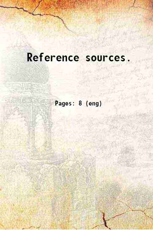 Reference sources.