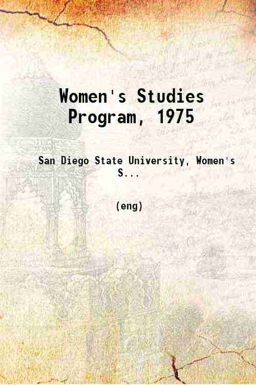 Women's Studies Program, 1975
