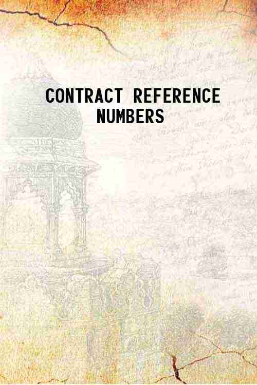 CONTRACT REFERENCE NUMBERS