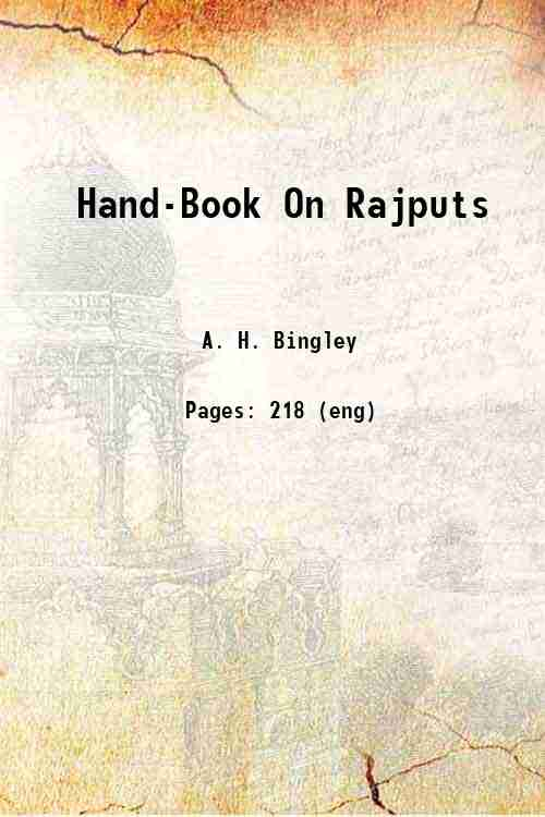 Hand-Book On Rajputs