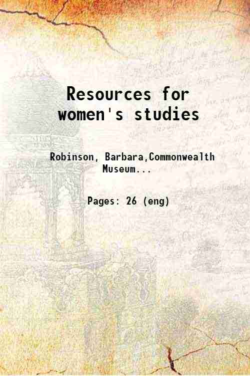 Resources for women's studies