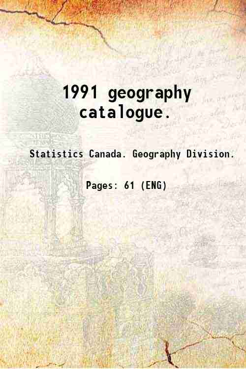 1991 geography catalogue.
