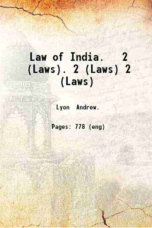 Law of India.   2 (Laws). 2 (Laws) 2 (Laws)