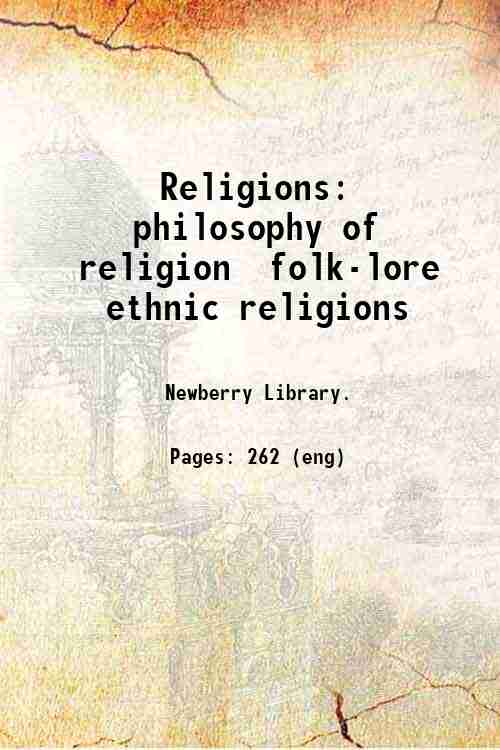 Religions: philosophy of religion  folk-lore  ethnic religions