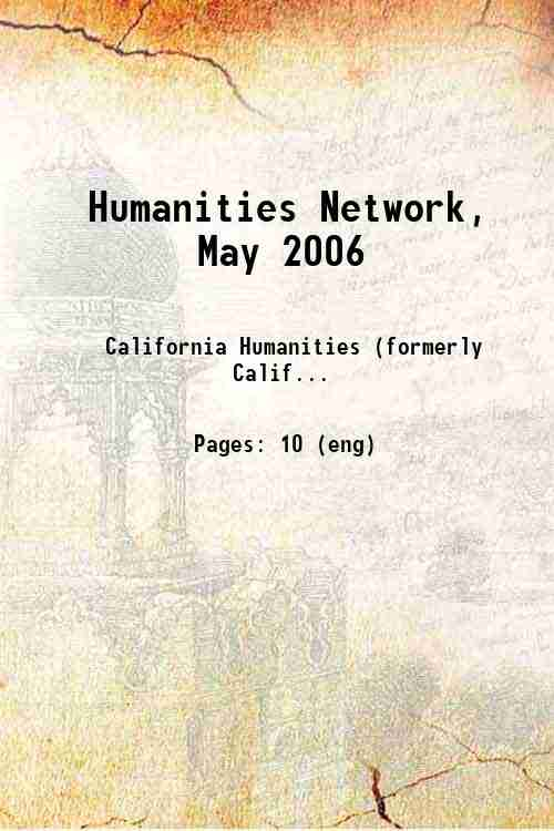 Humanities Network, May 2006