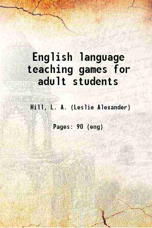 English language teaching games for adult students