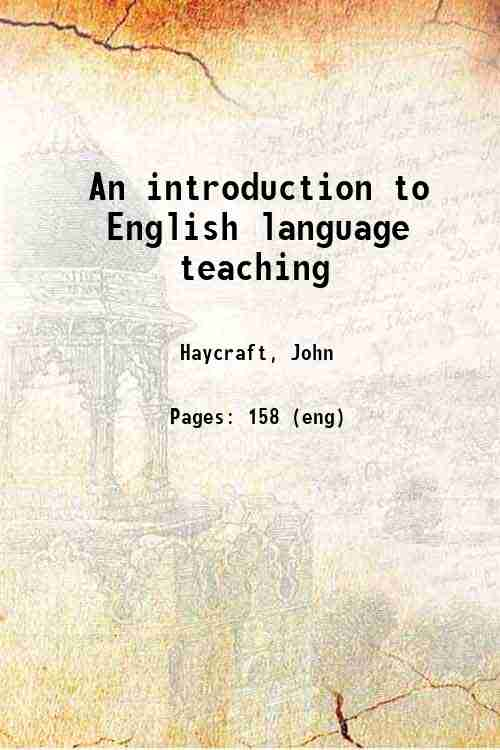 An introduction to English language teaching